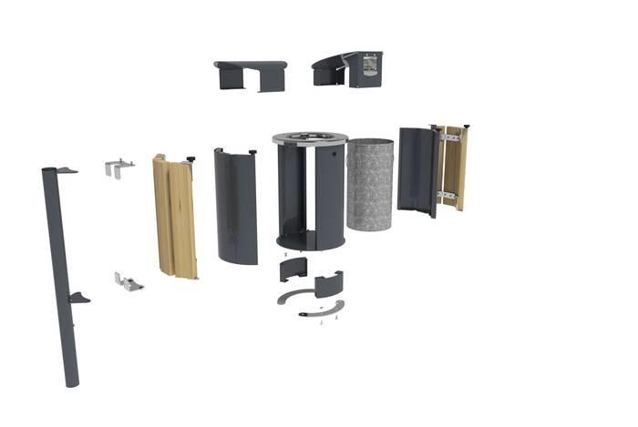 LOGO_Modularer Abfallbehälter