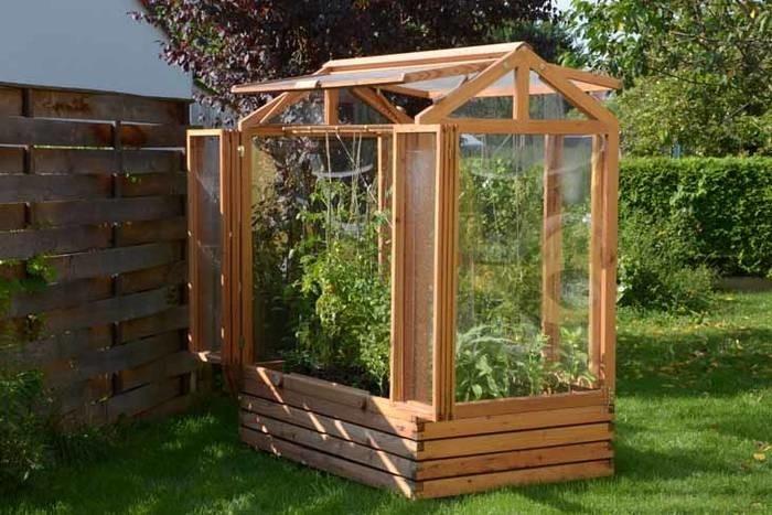 LOGO_Tomatenhaus als Kleingewächshaus aus Lärchenholz