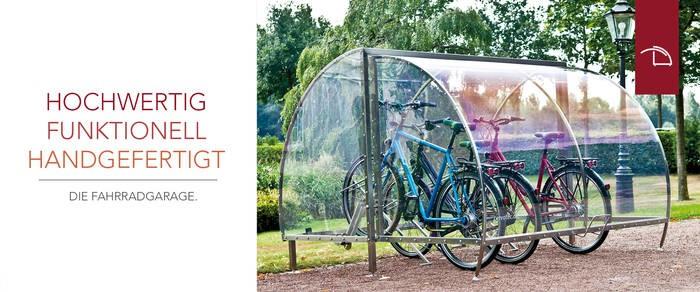 LOGO_Fahrradgaragen - abschließbar und aus 100 % Edelstahl - produziert CERVOTEC in Münster in individueller Handarbeit.