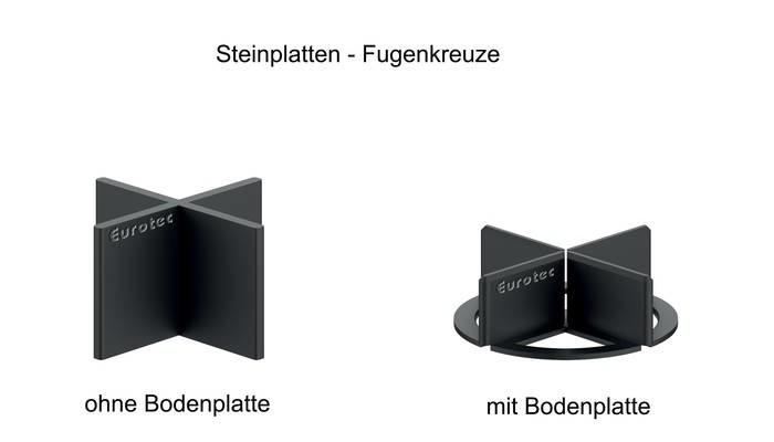 LOGO_Steinplatten-Fugenkreuze mit / ohne Bodenplatte