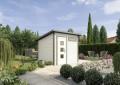 LOGO_Premium Gartenhaus mit modernem Pultdach