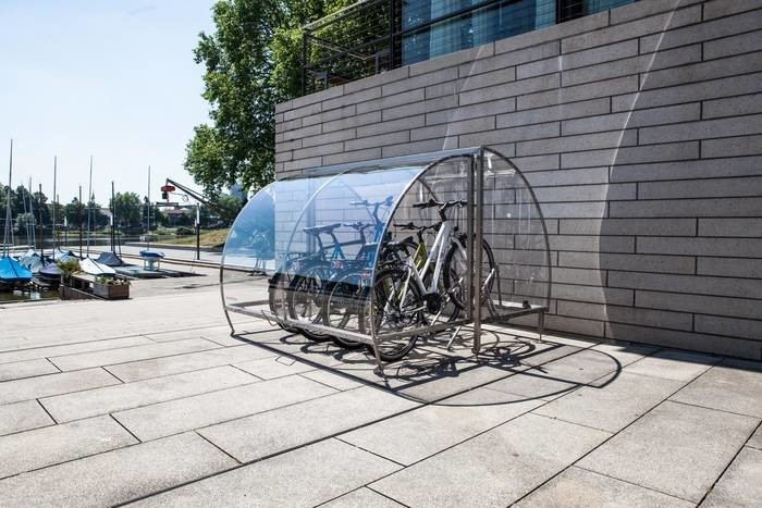 LOGO_Bike shelter CERATUM ONE for up to 8 bikes. Lockable