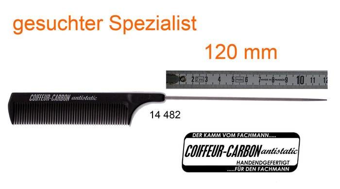 LOGO_Lockenkamm Carbon mit extra langer Nadel