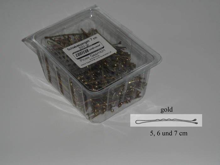 LOGO_Schiebespangen Gold, Braun, Schwarz 5/6/7 cm - extreme Spannung