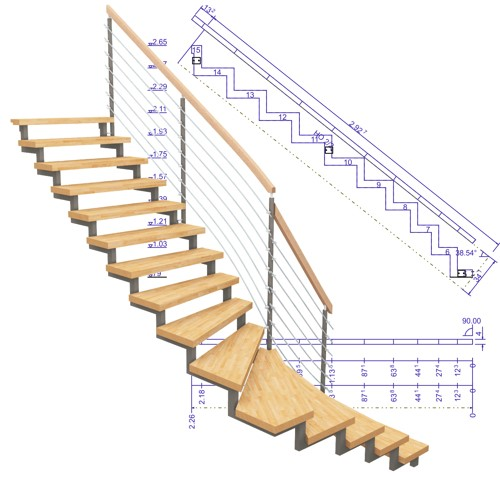 LOGO_3D CAD/CAM Stairs construction software SEMA stairs