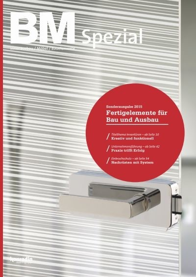 "LOGO_Special issue ""BM Spezial Prefabricated elements for Construction and Interior"""