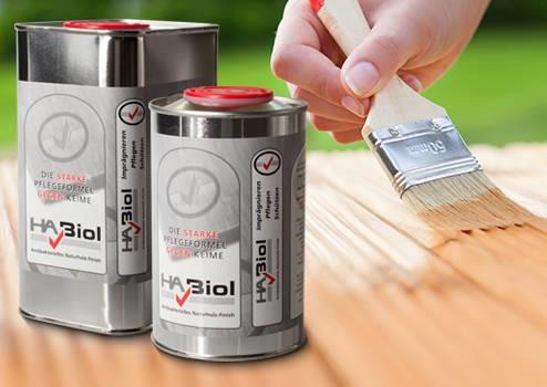 LOGO_HABiol Holzpflegeöl – dreifache Wirkung – einfache Anwendung