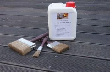LOGO_HABiol UV Terrassen Öl 2,5 Liter mit 3-Teiligen Pinselset