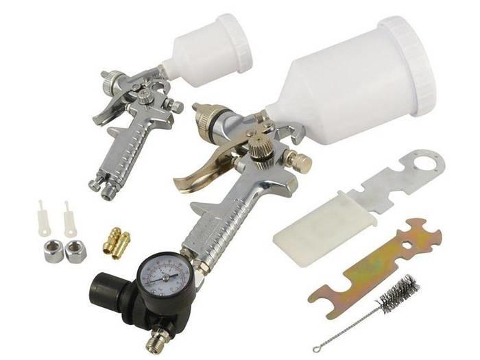 LOGO_HVLP Lackierpistole Set 0,8mm und 1,3mm Düse