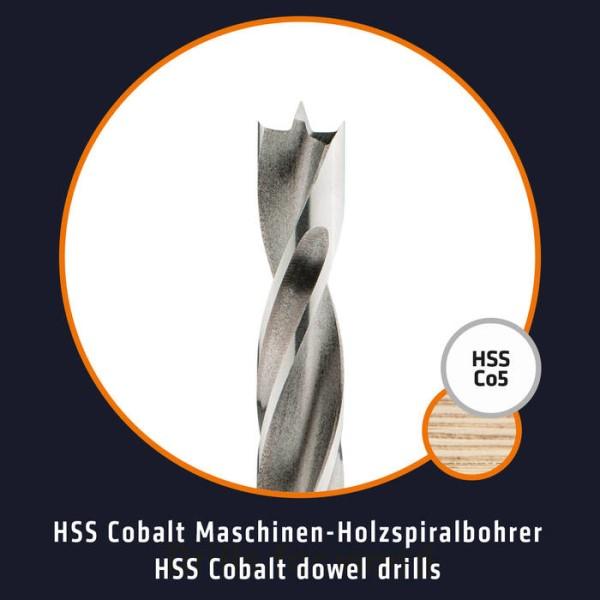 LOGO_ALPEN Drills HSS Cobalt Maschinen-Holzspiralbohrer