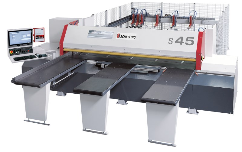 LOGO_s 45 cut-to-size saw: Versatile, Precise, providing immaculate Mitre-Cuts
