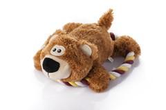 LOGO_plush bear with rope ring