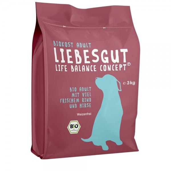 LOGO_BIO Adult Trockenfutter für den Hund: Mit viel frischem BIO-Rind und Hirse
