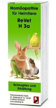 """LOGO_ReVet® H 3a """"Schnupfen und Erkältung"""" - Homöopathisches Kombinationsarzneimittel für Heimtiere."""