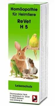 """LOGO_ReVet® H 5 """"Leberschutz"""" - Homöopathisches Kombinationsarzneimittel für Heimtiere."""