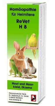 """LOGO_ReVet® H 8 """"Haut und Haarkleid, Ekzeme"""" - Homöopathisches Kombinationsarzneimittel für Heimtiere."""