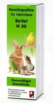 """LOGO_ReVet® H 20 """"Übermäßiger Sexualtrieb"""" - Homöopathisches Kombinationsarzneimittel für Heimtiere."""