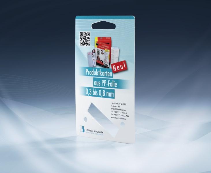 LOGO_Produktkarte aus PP-Folie