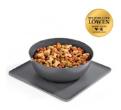 LOGO_Yummynator® 2-part set: mat (grey) + L bowl (grey)