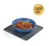 LOGO_Yummynator® 2-part set: mat (grey) + M bowl (blue)