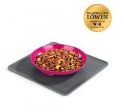 LOGO_Yummynator® 2-part set: mat (grey) + S bowl (pink)