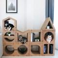LOGO_KAFBO Cat Scratching Furniture HOME 8 pcs Full Set – Walnut