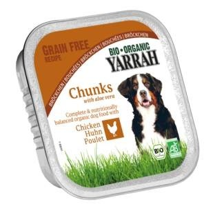 LOGO_Dog food chunks with chicken and aloe vera in alu dish