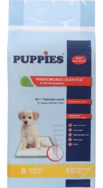 LOGO_PUPPIES PET TRAINING PADS Size S 45/30 sm