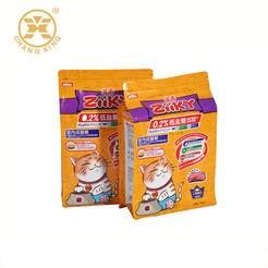 LOGO_Custom printed flat bottom pet food bag