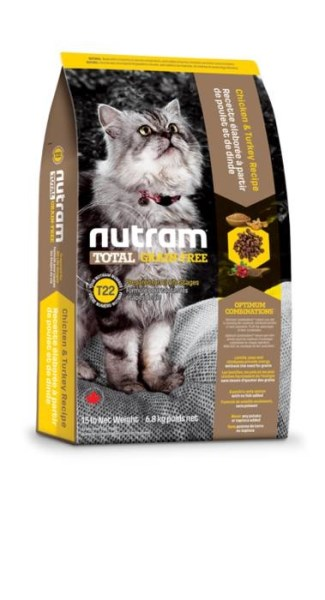 LOGO_T22 Nutram Total Grain-Free® Chicken and Turkey Recipe Cat Food