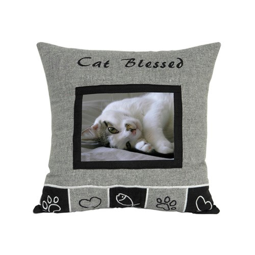LOGO_CAT BLESSED CUSHION WITH PHOTO WINDOW