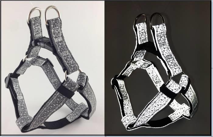 LOGO_Fashion reflective Dog Step-in Harness