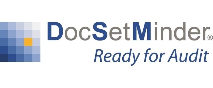 LOGO_DocSetMinder - IT-Sicherheit vollständig  + revisionssicher dokumentiert