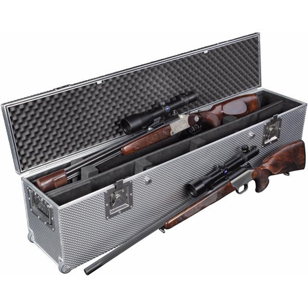 LOGO_NEU: Koffer EXGUN 2 / 1300 mit Rollen (englische Kofferbauweise)