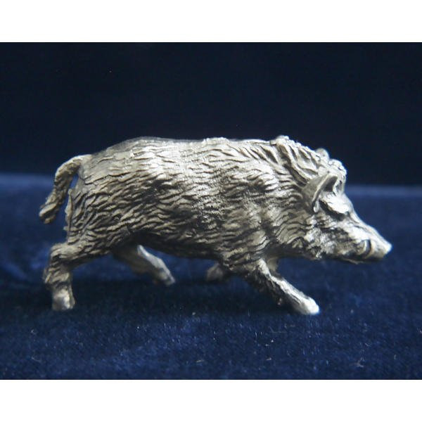 LOGO_Boar handcasted in fine pewter