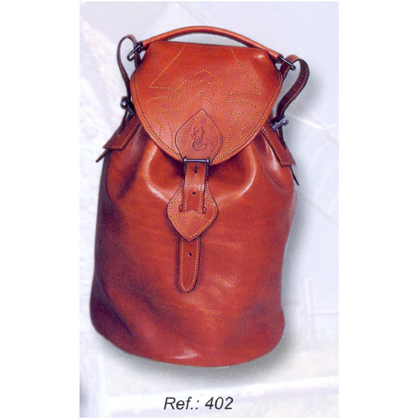 LOGO_Leather bag for 400 cartridges