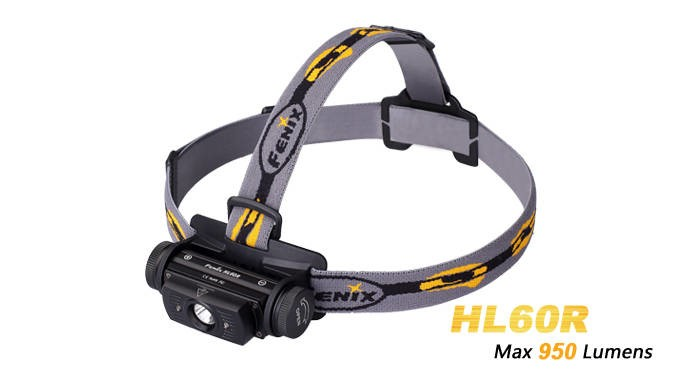 LOGO_Fenix HL60R 950 Lumen LED Stirnlampe mit LiIon Akku + USB Laden