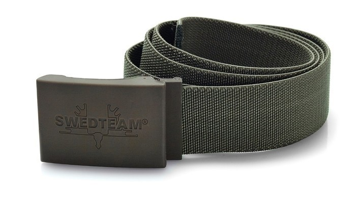 LOGO_Stretch belt, green, art: 90-110