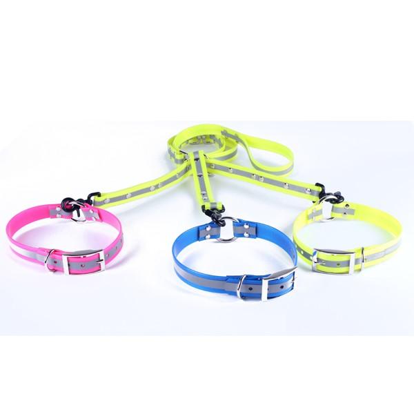 LOGO_reflektierendes Hundehalsband und Leine