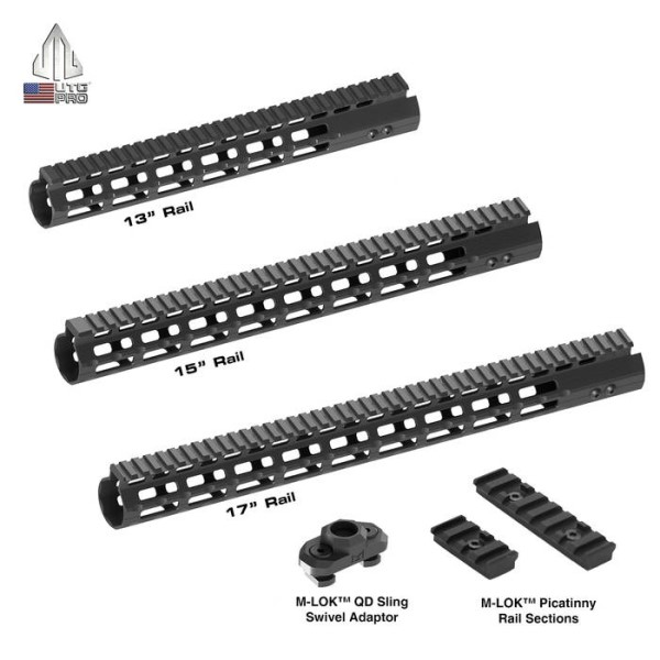 LOGO_UTG PRO M-LOK™ AR15 Super Slim Free Float Handguards