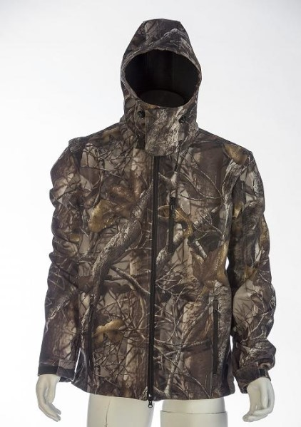 LOGO_SOFT SHELL JACKET WITH CAMO DESIGN