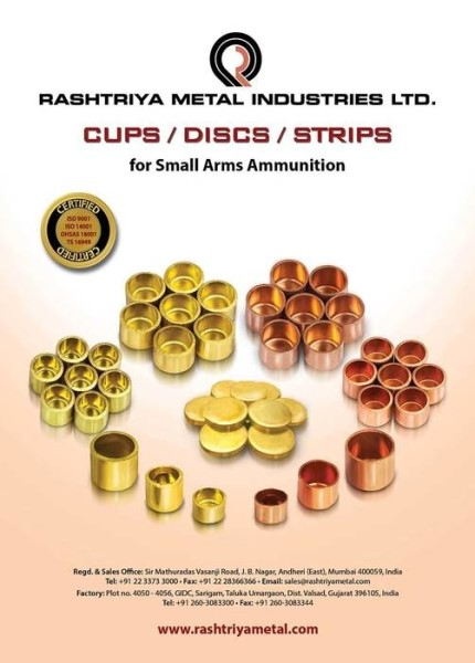 LOGO_CASE CUPS AND BULLET JACKET CUPS FOR SMALL ARMS AMMUNITION