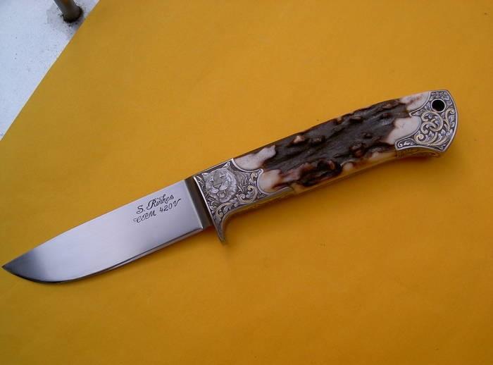 LOGO_Edles Jagdmesser mit Tigermotiven und eingelegten Goldornamenten