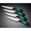 LOGO_Set of four steak knives in Malachite and Jet