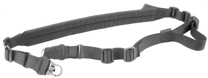 LOGO_Padded Multi-Point Rifle Sling - Black