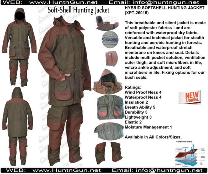 LOGO_HYBRID SOFTSHELL HUNTING JACKET (XPT-26015)