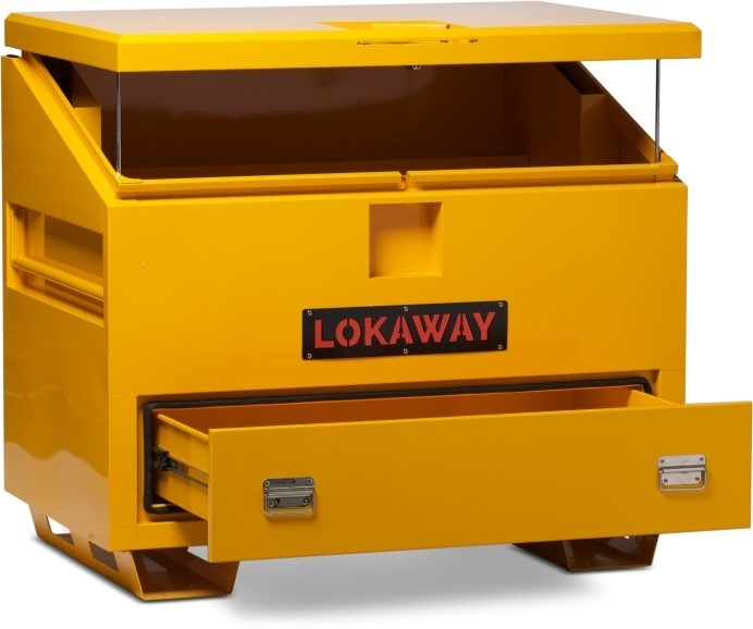 LOGO_LSBAD4848 - Job Site Boxes, fully welded construction, heavy duty skids on some models.