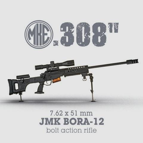 "LOGO_0.308 "" ( 7.62 x 51 mm) JMK BORA-12 Bolt Action Rifle"