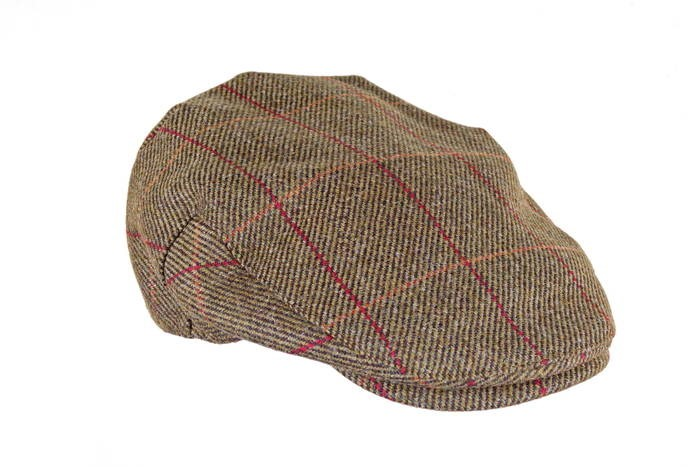 LOGO_KINLOCH WATERPROOF TWEED FLAT CAP (ZH097)