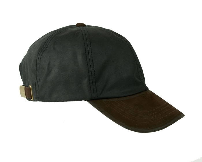 LOGO_HAMILTON WAX LEATHER PEAK BASEBALL CAP (ZH009)